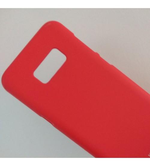 Силиконов калъф за Samsung S8 Plus G955 червен гръб Lux