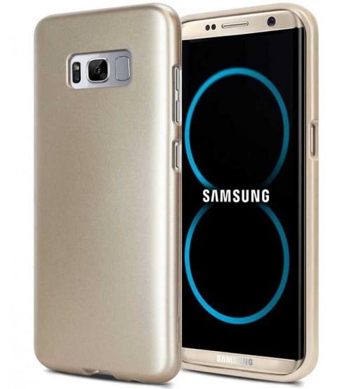 Силиконов калъф за Samsung S8 гръб златен iJelly