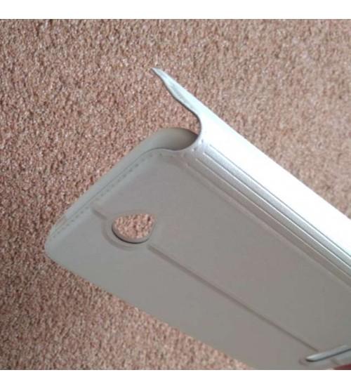 Калъф за Sony Xperia E4 E2105 флип тефтер Book бял