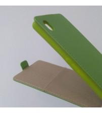 Калъф за Sony Xperia M4 Aqua флип тефтер зелен Flexi
