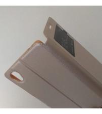 Калъф за Sony Xperia M4 Aqua флип тефтер Book златен