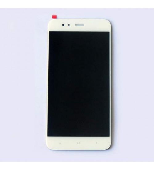 Дисплей с тъч скрийн и стъкло за Xiaomi Mi A1 бял