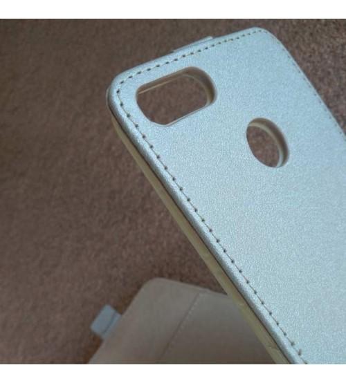 Калъф тефтер за Xiaomi Mi A1 Flexi златен