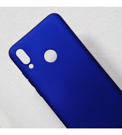 Калъф за Huawei Y7 2019 силиконов гръб син UNI