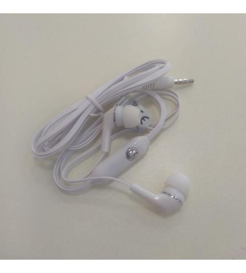 Слушалки с микрофон за ZTE Blade A310 бели тапи